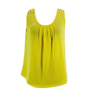 Papermoon Yellow Scoop Neck Blouse Small NEW